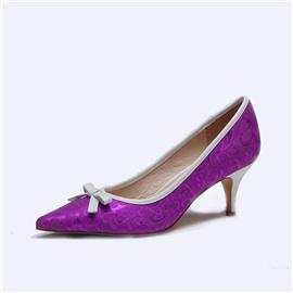 伯昇彩色浮雕女鞋高跟女单鞋尖头女鞋BS047