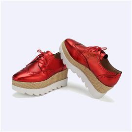 伯昇彩色壓花女鞋厚底女鞋松糕鞋激光雕花女鞋BS020