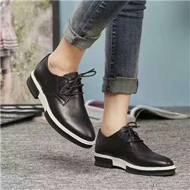 伯昇圆头女鞋系带女鞋休闲女鞋真皮女鞋BS023