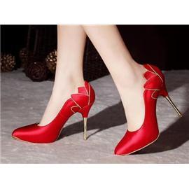 伯昇|婚礼鞋|BSF-18228|红色高跟鞋