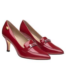 伯昇凤牌 BSF-19999 黄金logo 高跟女单鞋尖头女鞋 红色女鞋