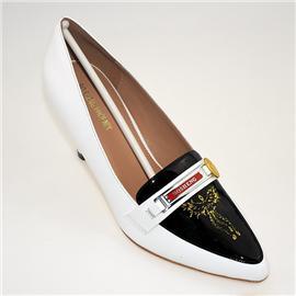【伯昇】真皮漆皮女士商务正装 高跟鞋 尖头 轻便