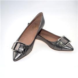 【伯昇】女式尖头 时尚百搭软底平 女鞋