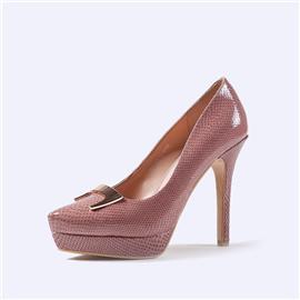 伯昇蛇纹女鞋防水台高跟女单鞋BS057