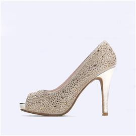 伯昇金鉆女鞋高跟魚嘴單鞋BS120