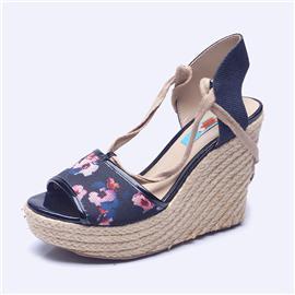 伯昇彩色女鞋坡跟凉鞋鱼嘴凉鞋女士凉鞋BS118