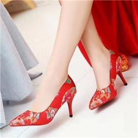 伯昇|婚礼鞋|BSF-18338|红色凤凰鞋