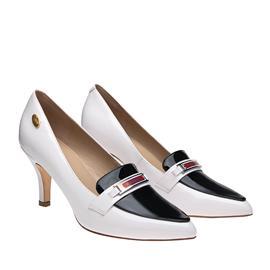 伯昇凤牌|BSF-18888|黄金logo|高跟女单鞋尖头女鞋|黑白女鞋