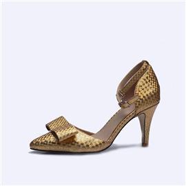伯昇炫彩女鞋印花女鞋高跟涼鞋多色女鞋BS117