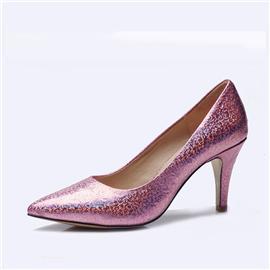 伯昇炫彩女鞋印花女鞋高跟女单鞋多色女鞋BS036