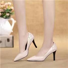伯昇尖頭真皮女高跟時尚女單鞋BS061