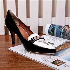 伯昇凤牌高跟鞋BS-588E纯?#24179;餷ogo手工打造凤牌商务鞋时尚高跟鞋
