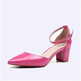 伯昇粗跟女鞋尖头女鞋侧空女款凉鞋BS123