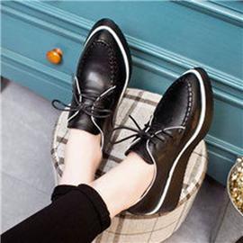 伯昇纯色女鞋休闲平底女鞋系带女鞋BS026
