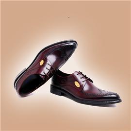 伯昇正装男鞋商务男鞋真皮男鞋黄金LOGO男鞋BSL010
