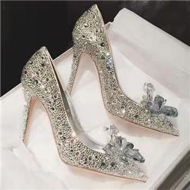 伯昇|婚礼鞋|BSF-18688|白色水晶鞋