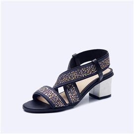 伯昇水钻女鞋粗跟低跟凉鞋女款凉鞋BS127