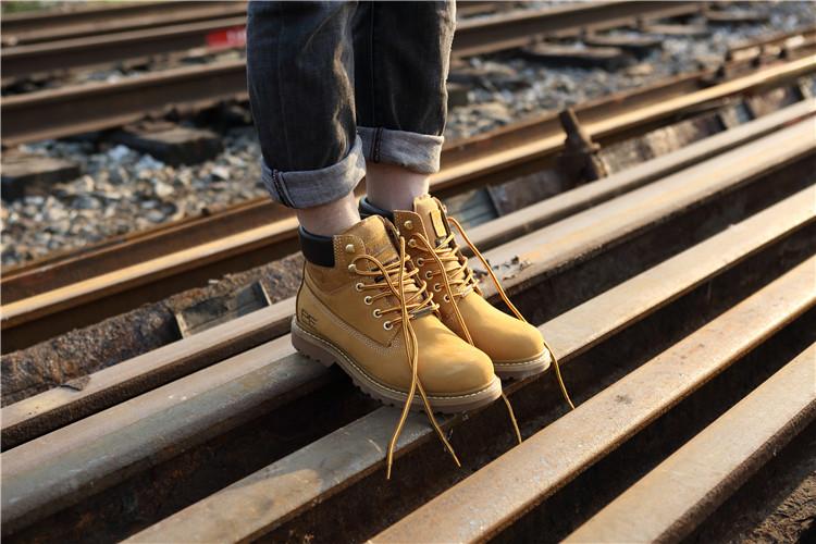 品牌工装靴经典大黄靴美式工装鞋男