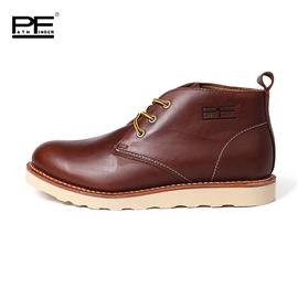 PF短筒大头高帮工装男鞋英伦复古潮流休闲户外男款皮鞋