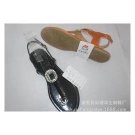 2015厂家直销工艺鞋 平底鞋 凉鞋 注塑底凉鞋