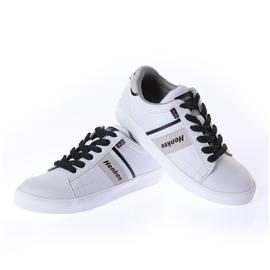 欧风男女款时尚真皮鞋拼接鞋交叉系带休闲鞋