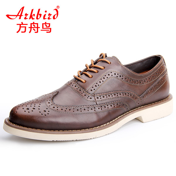 Men's casual shoes leather shoes Bullock British style shoes head layer cowhide rubber outsole