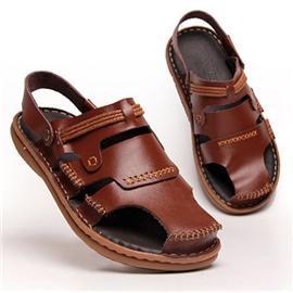 方舟鸟夏季真皮男士凉鞋透气沙滩鞋www88必发手机版必发88.