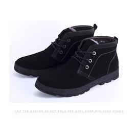 真皮男士棉鞋潮流日常休闲男鞋韩版高帮男鞋保暖冬季加绒男鞋