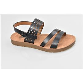 家新鞋业Carson 皮感环保 PU鞋底 无胶水注塑凉鞋