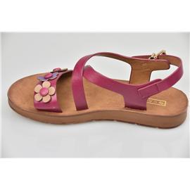 家新鞋业Carson 花饰、环保、智能 PU材质 女童可爱防滑凉鞋