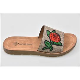 家新鞋业Carson 玫瑰花 环保智能、舒适 36-41、PU底 注塑鞋、凉鞋