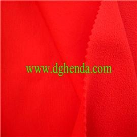 红色针织布热熔胶复合红色摇粒绒|普通贴合|热熔胶复合
