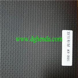 黑色压纹SBR |热熔胶复合|普通贴合|