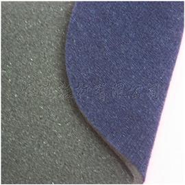 黑色3mmK324泡绵贴合130g深蓝涤纶天鹅绒