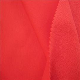 红色针织布热熔胶复合红摇粒绒|普通贴合|热熔胶复合