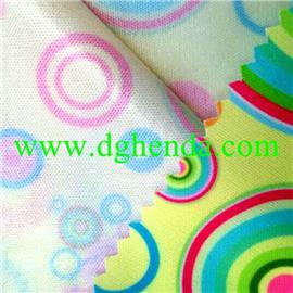佳积印花布贴合低透透明TPU膜|热熔胶复合|抗油定型布