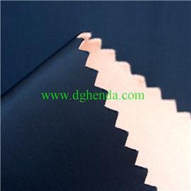 蓝色塔丝隆面料复合防水膜复合粉佳积布|靴用定型布|恒达定型布