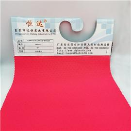 红色网布+红色4MM冲孔乳胶+黑针织底布