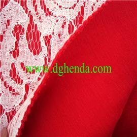 蕾丝布料热熔胶复合绒布|恒达定型布|抗油定型布