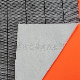 1.2mm白不织布贴合条纹布|布料复合|普通贴合
