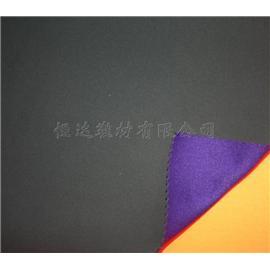 120平方克紫尼龙佳积布贴合黑SBR |靴用定型布|恒达定型布