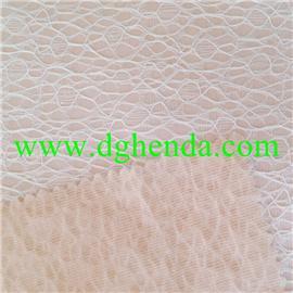 白色粘胶蕾丝热熔胶耐水洗复合肉色针织底布|普通贴合|热熔胶复合