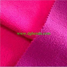 桃红摇粒绒热熔胶复合紫色摇粒绒|靴用定型布|恒达定型布