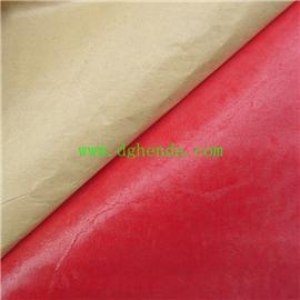 红色牛津布底植绒背胶 |热熔胶复合|普通贴合
