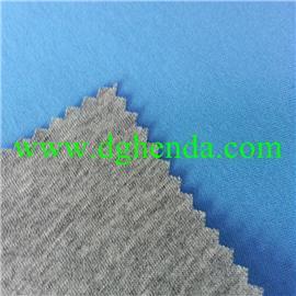 灰色纯棉针织布热熔胶耐水洗复合蓝色针织布|布料复合|普通贴合