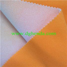 黄天鹅绒贴合浅青泡棉|恒达定型布|抗油定型布