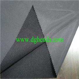 Black 130km2 polyester velvet | shoe material bonding factory | ordinary binding |
