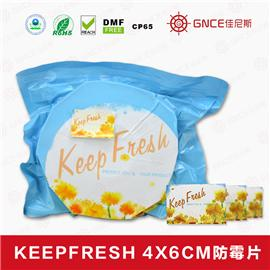Keep Fresh4*6cm环保绿色防霉片 抗菌剂 防水剂 干燥剂 除臭剂