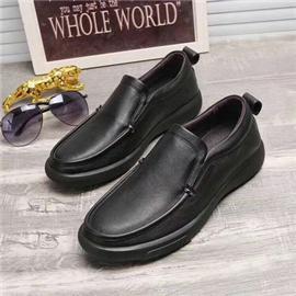 2018春季新款时尚真皮男鞋 男士休闲皮鞋 外贸潮流鞋子