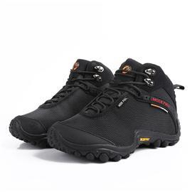 男女情侣款高帮加绒防水防滑登山鞋冬季保暖户外运动鞋